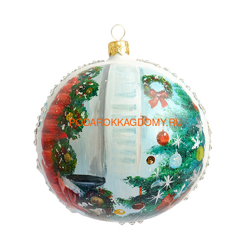 Набор новогодних ёлочных шаров с кристаллами Сваровски 16928 фото 3