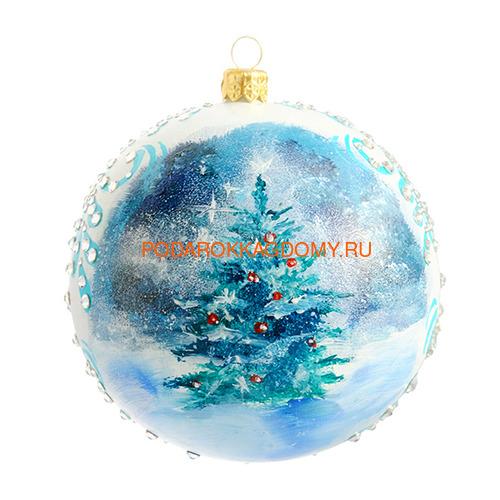 Набор новогодних ёлочных шаров с кристаллами Сваровски 16929 фото 3