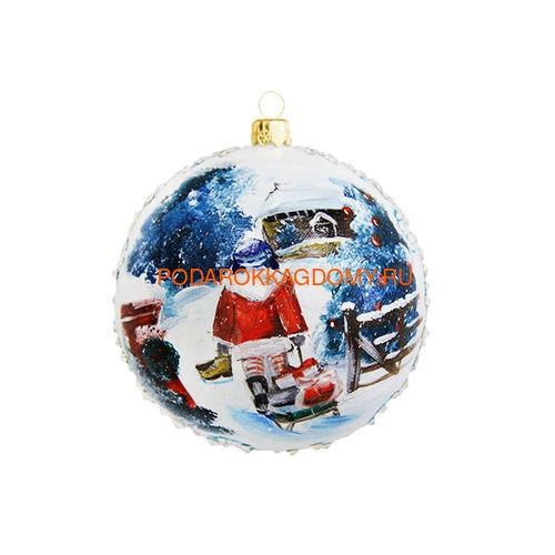 Новогодний ёлочный шар с кристаллами Сваровски 16930 фото 2