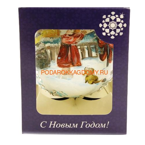 Новогодний ёлочный шар с кристаллами Сваровски 16930 фото 4