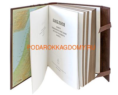 Подарочная Библия в кожаном переплёте 06128 фото 4