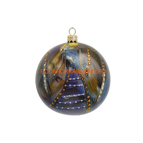 Набор новогодних ёлочных шаров с кристаллами Сваровски 16959 фото 4