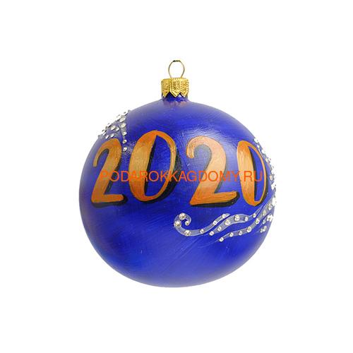 Новогодний ёлочный шар с кристаллами Сваровски 16960 фото 2