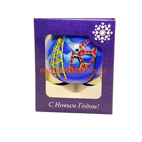 Новогодний ёлочный шар с кристаллами Сваровски 16960 фото 3