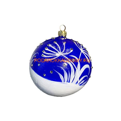 Новогодний ёлочный шар с кристаллами Сваровски 16966 фото 2