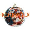Набор новогодних ёлочных шаров с кристаллами Сваровски 16928 фото 4