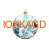 Новогодний ёлочный шар с кристаллами Сваровски 16930 фото 3