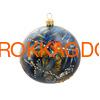 Набор новогодних ёлочных шаров с кристаллами Сваровски 16959 фото 3