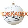 Новогодний ёлочный шар с кристаллами Сваровски 16736 фото 2