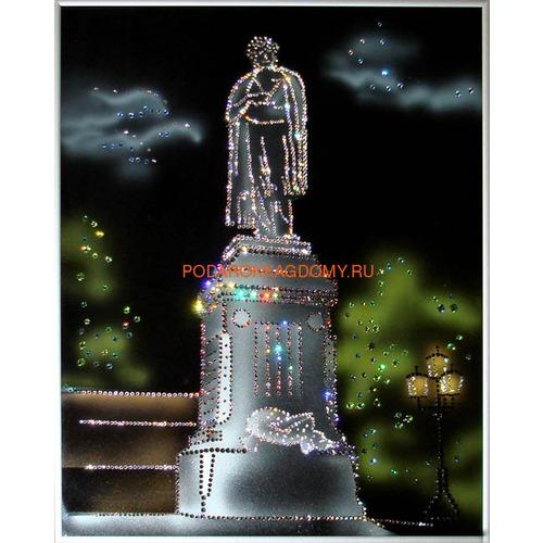 "Картина Сваровски ""Памятник Пушкину"" 0278 фото"