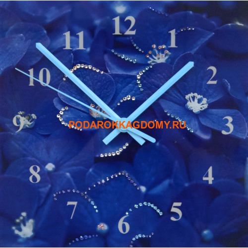 """Настенные часы с кристаллами Сваровски """"Гортензия"""" 16635 фото"""