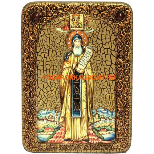 Икона Преподобный Никита Столпник, Переславский чудотворец 07883 фото