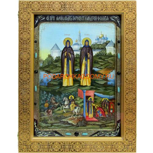 Икона Святые преподобные Александр (Пересвет) и Андрей (Ослябя) Радонежские 071189 фото