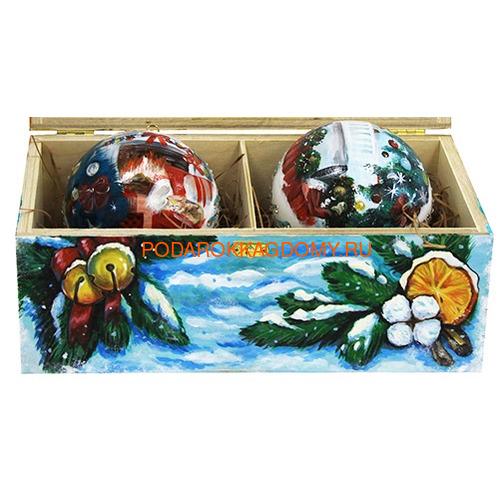 Набор новогодних ёлочных шаров с кристаллами Сваровски 16928 фото