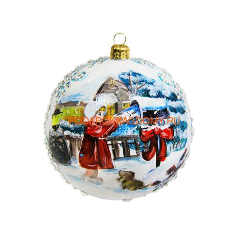 Новогодний ёлочный шар с кристаллами Сваровски 16930 фото