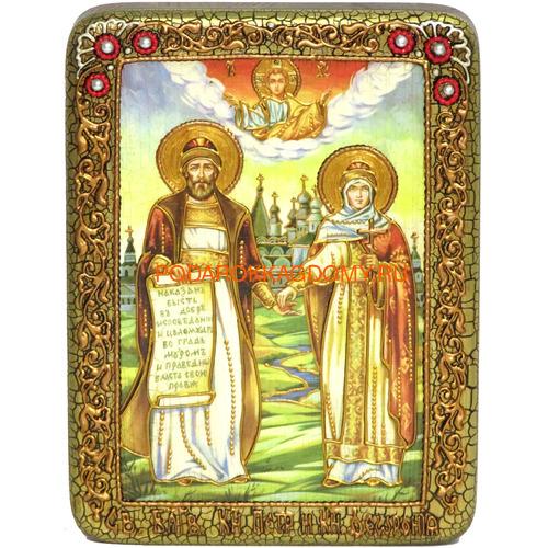 Икона Пётр и Февронья 071234 фото