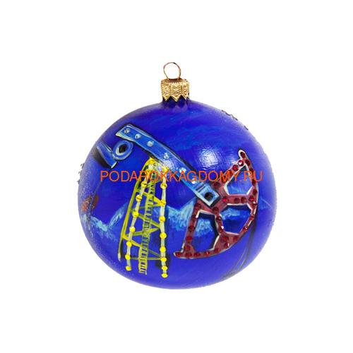 Новогодний ёлочный шар с кристаллами Сваровски 16960 фото