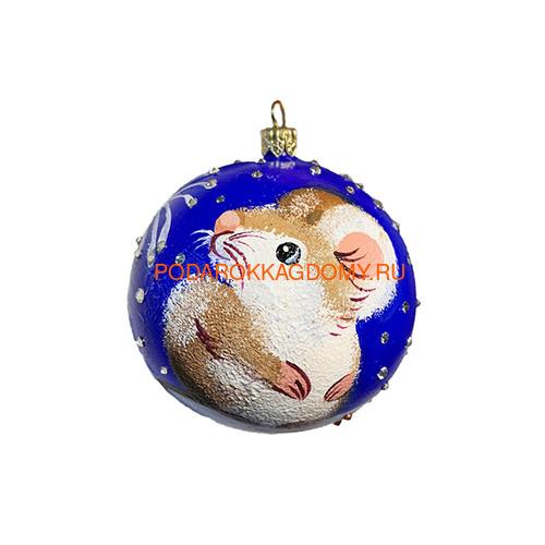 Новогодний ёлочный шар с кристаллами Сваровски 16966 фото
