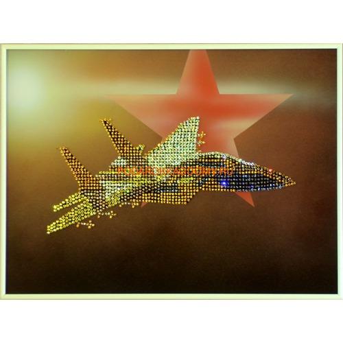 "Картина Сваровски ""Самолёт"" 0228 фото"