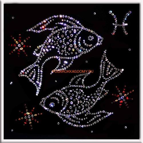 """Картина Сваровски """"Знак зодиака рыбы"""" 77111 фото"""