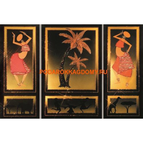 """Модульная картина Сваровски """"Африка"""" 02384 фото"""