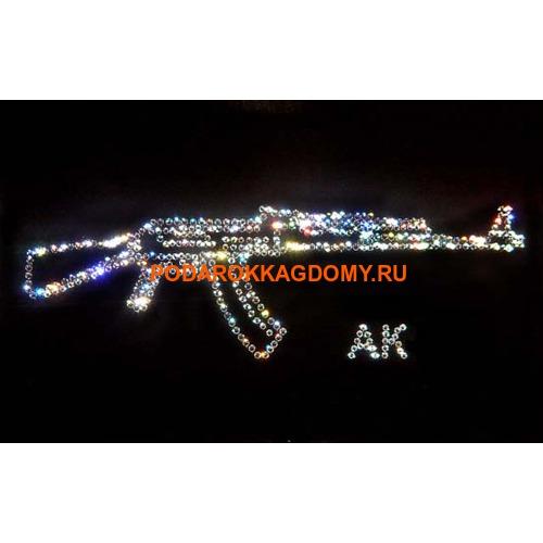 """Военная картина Сваровски """"Калашников"""" 7772 фото"""