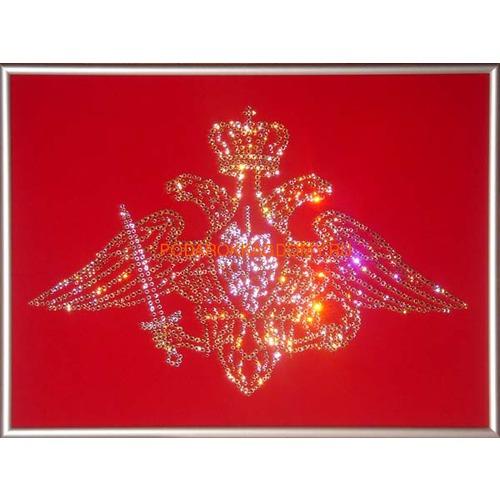 """Военная картина Сваровски """"Эмблема вооружённых сил"""" 0229 фото"""