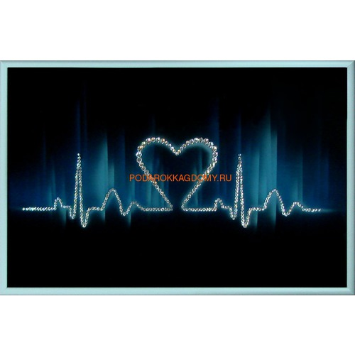"Картина Сваровски ""Ритм сердца"" 02280 фото"