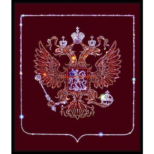"""Картина Сваровски """"Герб РФ"""" 0978 фото"""
