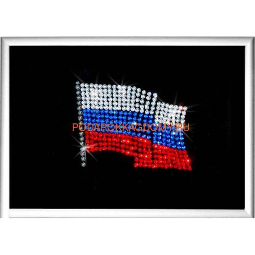 """Картина Сваровски """"Флаг РФ"""" 02321 фото"""