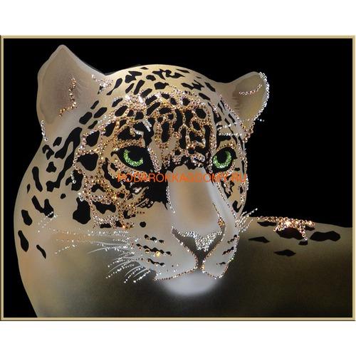 """Картина Сваровски """"Леопард"""" 02187 фото"""