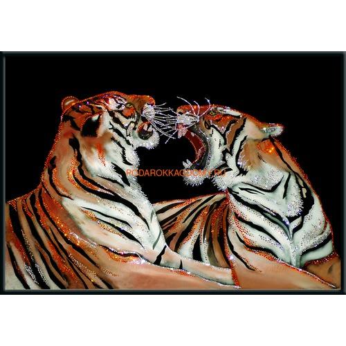 """Картина Сваровски """"Бенгальские тигры"""" 0941 фото"""