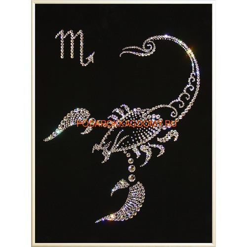 "Картина Сваровски ""Знак зодиака скорпион"" 77161 фото"