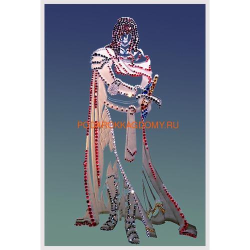 """Зеркальная картина Сваровски """"Рыцарь"""" 02554 фото"""