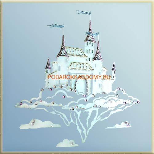 """Зеркальная картина Сваровски """"Волшебный замок"""" 02556 фото"""