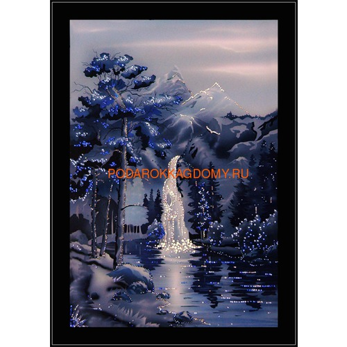 """Картина Сваровски """"Водопад в ночи"""" 02530 фото"""