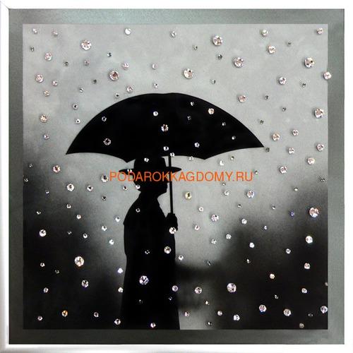 """Картина Сваровски """"Под дождём"""" 02420 фото"""