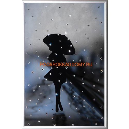 "Картина Сваровски ""Девушка под дождём"" 02423 фото"