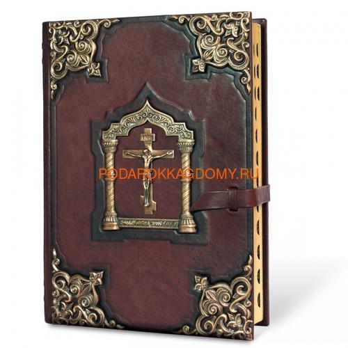 Подарочная Библия в кожаном переплёте 0663 фото