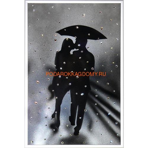 """Картина Сваровски """"Влюблённые под дождём"""" 02702 фото"""