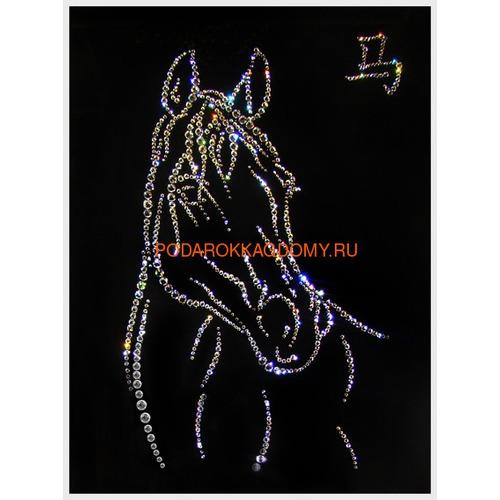 """Восточная картина Сваровски """"Символ года лошадь"""" 7742 фото"""