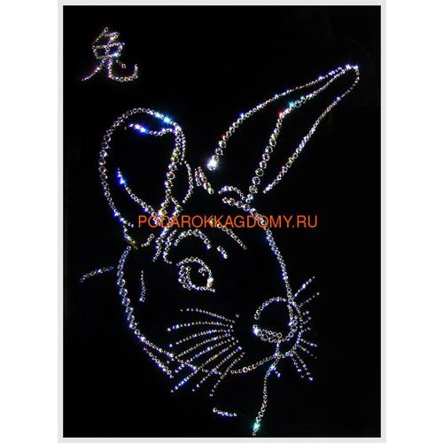 """Восточная картина Сваровски """"Символ года кролик"""" 7737 фото"""