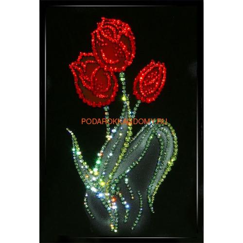 """Картина Сваровски """"Тюльпаны"""" 02204 фото"""