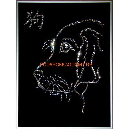 """Восточная картина Сваровски """"Символ года собака"""" 7745 фото"""