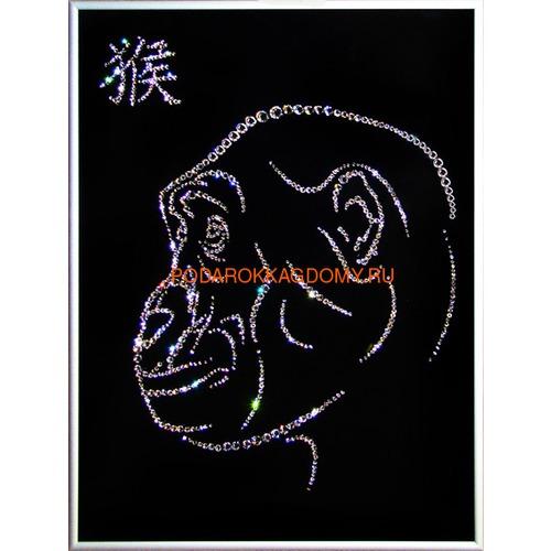 "Восточная картина Сваровски ""Символ года обезьяна"" 7743 фото"