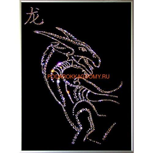 """Восточная картина Сваровски """"Символ года дракон"""" 7739 фото"""