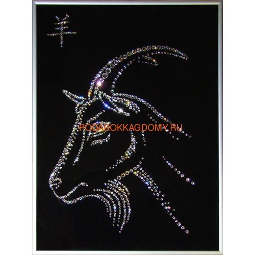 """Восточная картина Сваровски """"Символ года коза"""" 7735 фото"""