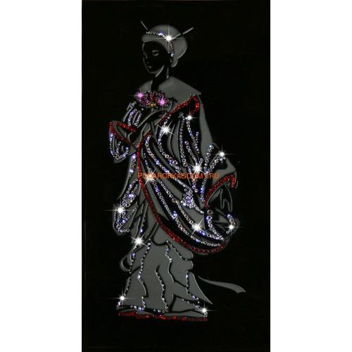 """Восточная картина Сваровски """"Японская девушка"""" 1684 фото"""