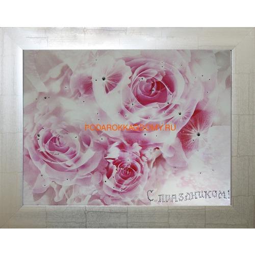 Картина с кристаллами Swarovski Роза 77696 фото