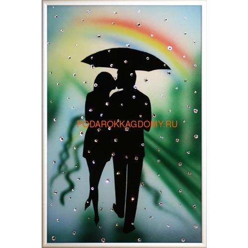 """Картина Сваровски """"Влюблённые под радугой"""" 02708 фото"""